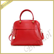 FURLA フルラ ショルダーバッグ パイパー PIPER M DOME 2way レザー ハンドバッグ レッド BFK9 ARE RS1 / 834465 ROSSO
