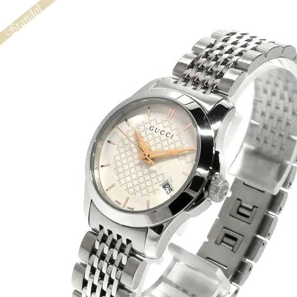 4bc4b5a43445 GUCCI グッチ レディース腕時計 Gタイムレス G-Timeless 27mm シルバー YA126565