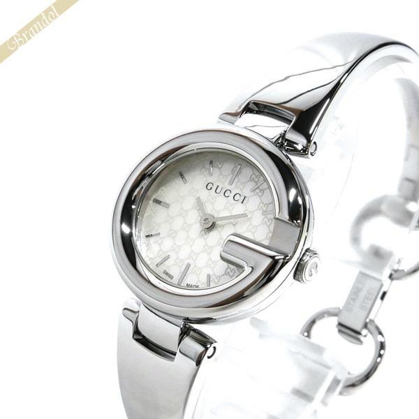 14e35e107da8 6700 【ブランド】 バングルウォッチ レディース腕時計 GUCCI 26mm ブラック×シルバー グッチ 時計 YA067508