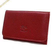 IL BISONTE イルビゾンテ 名刺入れ 本革 レザー カードケース レッド C0470 245 RUBY RED