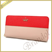 kate spade ケイトスペード 長財布 CAMERON STREET LACEY レザー レッド系ピンク×ライトピンク PWRU5073 626