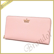kate spade ケイトスペード ラウンドファスナー長財布 CAMERON STREET LACEY レザー ライトピンク PWRU5073 651 PINK SUNSET