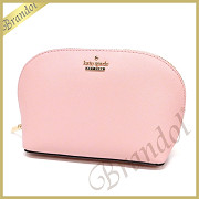 kate spade ケイトスペード ポーチ CAMERON STREET SMALL ABALENE レザー コスメポーチ ライトピンク PWRU5287 651 PINK SUNSET