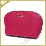 kate spade ケイトスペード ポーチ CAMERON STREET SMALL ABALENE レザー コスメポーチ ピンク PWRU5287 657 PUNCH