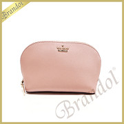 kate spade ケイトスペード ポーチ CAMERON STREET SMALL ABALENE レザー コスメポーチ ライトピンク PWRU5287 964