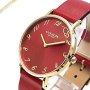 COACH コーチ レディース腕時計 Perry ペリー マウスモチーフ 36mm レッド 14503486