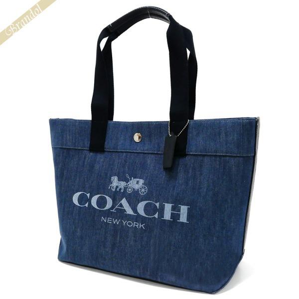 95f948052668 COACH コーチ トートバッグ ロゴ キャンバス デニムトート ブルー系 F67415 SV/DE