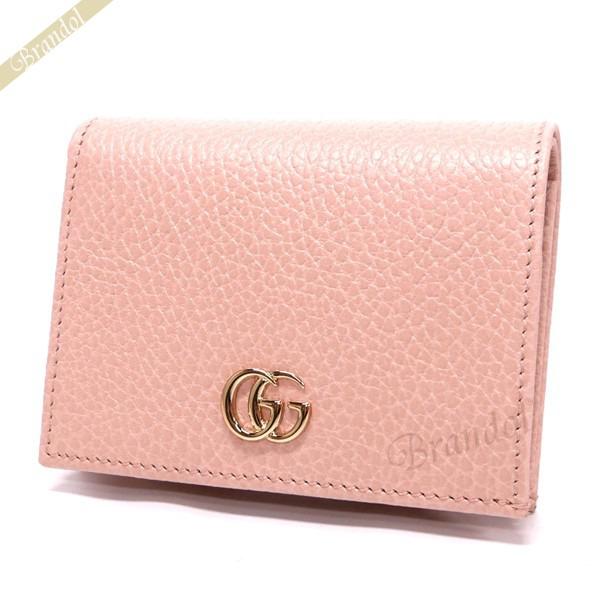 new products 89106 52233 GUCCI グッチ 二つ折り財布 プチ マーモント レザー カード ...