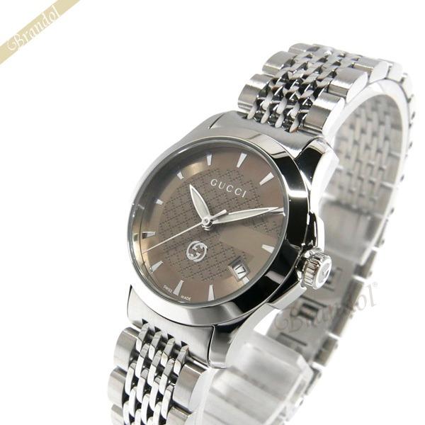 09045227efa6af GUCCI グッチ レディース腕時計 Gタイムレス G-Timeless 27mm ブラウン×シルバー YA1265007