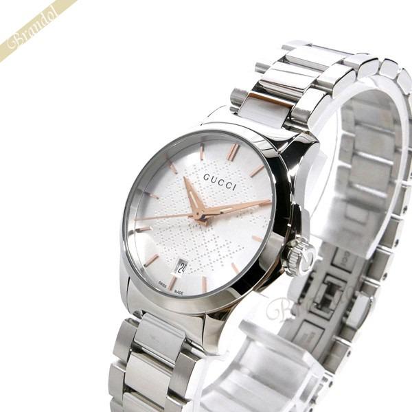 ce2e08fe2a0c GUCCI グッチ レディース腕時計 Gタイムレス G-Timeless 27mm ホワイト×シルバー YA126523