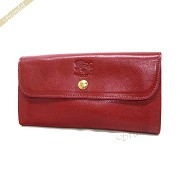 IL BISONTE イルビゾンテ 長財布 本革 レザー レッド C0842 245 RUBY RED